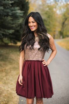 Holiday Sequin Dress- 2 Styles!