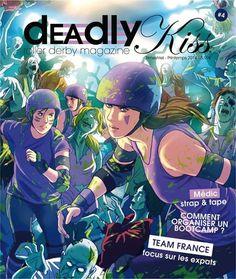 Les 4 premiers numéros du magazine #RollerDerby made in France Deadly Kiss sont disponibles au shop !