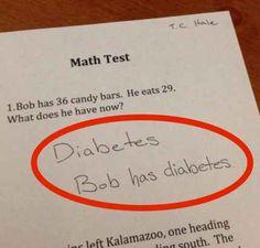 """""""Bob isst 29 Süßigkeiten. Was hat Bob jetzt?"""""""