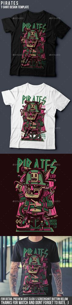 Pirates TShirt Design  #ai #illustrator #tees #pirates • Download ➝ https://graphicriver.net/item/pirates-tshirt-design/18789914?ref=pxcr