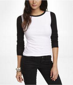 BATEAU NECK COLOR BLOCK TEE Style: 9639175