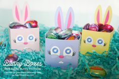 Bunny Boxes FREE Easter Bunny Printable I Heart Nap Time | I Heart Nap Time - Easy recipes, DIY crafts, Homemaking