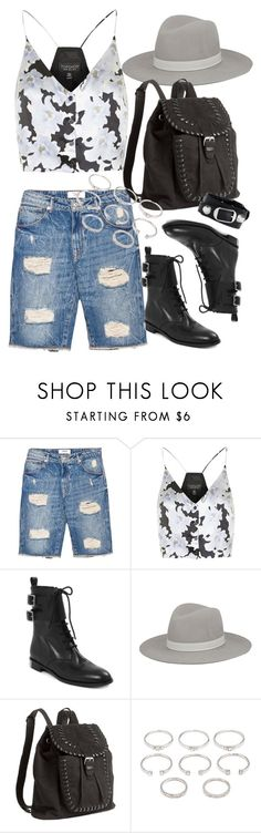 """""""Untitled #1448"""" by erinforde ❤ liked on Polyvore featuring MANGO, Topshop, Marc by Marc Jacobs, Janessa Leone, H&M, Forever 21 and Balenciaga"""