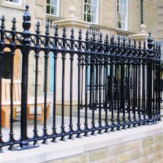 Select from one of 5 elegant cast iron fence solutions and contact us to help finalize a quotation including all the latest discounts! Cast Iron Fence, Cast Iron Gates, Metal Gates, Wrought Iron Fences, Metal Fence, Steel Fence Panels, Garden Railings, Home Fencing, Victorian Irons