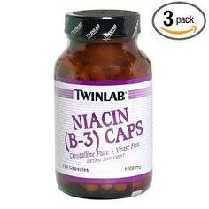 Hỗ trợ sinh lý Nam Twinlab Niacin (B-3) 1000mg, 120 Viên