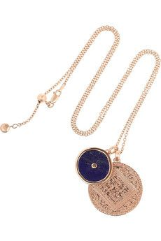 Monica Vinader Marie and Atlantis Kandy rose gold-plated lapis lazuli necklace | NET-A-PORTER