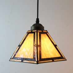Cone Shade Baroque Pattern 8 Inch Mini Hanging Pendant Lighting in Tiffany Stained Glass Style