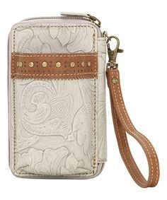 Another great find on #zulily! Cream & Tan Castle Rock Wallet/Cell Phone Case #zulilyfinds