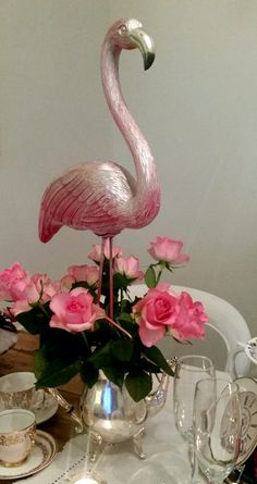 Flamingo centrepieces To hire from us ... Mad hatters tea party Contact us through www.kraftiko.com contact page for more information