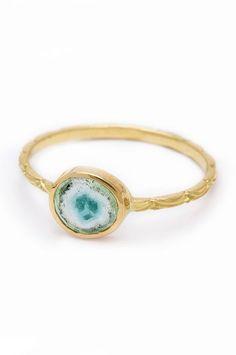 30 Dream Engagement Rings For The Anti-Diamond Girl #refinery29  http://www.refinery29.com/engagement-rings-diamond-alternatives#slide-5