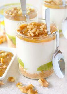 Dolci a go go: Mini cheesecake di pesto, formaggio cremoso e composta di fichi e noci
