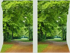 Stereo Cross View of a park 3D by zour on DeviantArt