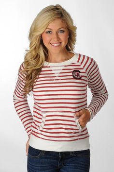 South Carolina Gamecocks Garnet Striped Pullover