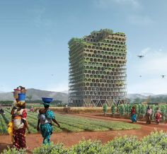 The FIRST PLACE was awarded to Pawel Lipiński and Mateusz Frankowski from Poland for the project Mashambas Skyscraper. The design proposes a modular and scalable skyscraper conceived as an educational center and marketplace for new agricultural communities in sub-Saharan Africa. The design seeks to increase farming opportunities and reduce hunger in these regions.