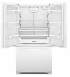 Whirlpool WRF540CWBW 19.6 Cu. Ft. White Counter Depth French Door Refrigerator