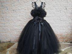 Tutu Dress,  BEAUTIFUL BASIC BLACK, Bit of  Fluff Bodice, Toddler Girls 3-6, Costumes, Weddings,  Halloween, Parties, Photo Props, Gifts