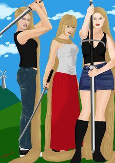 Beauties and the Blades by JohnHeavy.deviantart.com on @DeviantArt