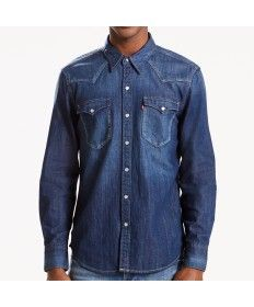 a89ed65078 Mens Levis Barstow Western Acid Indigo Long Sleeve Shirt