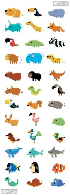 Animal (vector) icons… on behance cute illustration, illustration animals, animal illustrations Children's Book Illustration, Character Illustration, Illustration Animals, Animal Illustrations, Stock Illustrations, Vector Icons, Vector Art, Animal Graphic, Affinity Designer