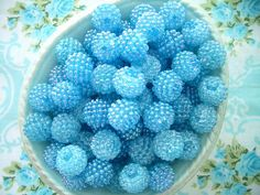 Vintage Baby Blue Berry Beads