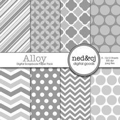 Digital Scrapbook Paper Pack  Alloy  2013 by nedandcjdigital  https://www.etsy.com/listing/152283976/digital-scrapbook-paper-pack-alloy-2013?ref=shop_home_active_17