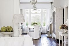 White romantic house