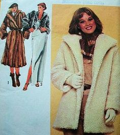Simplicity 9754 Misses Lined Coat in Three Lengths Sewing Pattern Size 14 Bust 36 Vintage 1980 ** You can find more details by visiting the image link.