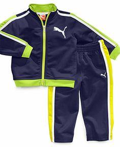 Puma Baby Set, Baby Boys 2-Piece Striped Tricot Jacket and Pants - Kids - Macy's