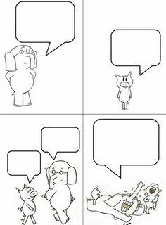 Elephant and Piggie Comic {Journal Idea}