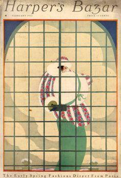 early but canonical Lepape ; Clarence White, Vanity Fair Magazine, Art Illustrations, Illustration Art, Vintage Magazines, Vogue, Harpers Bazaar, Cover Art, Paul Poiret