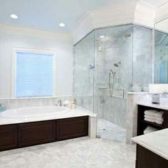 Jacuzzi Tub And Glass Shower..separate |Master Bathroom| Dream Home Ideas