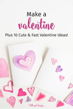 Here's a quick Valentine tutorial plus 10 more cute Valentine card ideas that you can whip up in minutes! Cute Valentine Ideas, Valentines Diy, Diy Crafts Magazine, Decorated Envelopes, Some Cards, Card Tutorials, Letter Writing, Crafts For Kids, Card Making