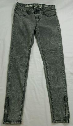 TEN25 Genuine Gray Denim Slim Skinny Stretch Jeans Women's Size 7 8 | eBay