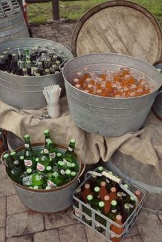 Rustic California Wedding by Wildflowers Photography - polterabend - Wedding Party Bbq Party, Party Drinks, Drinks Wedding, Yard Party, Drink Station Wedding, Wedding Candy Table, Wedding Snacks, Party Fun, Soirée Bbq