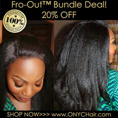 """DAY 9 of #ONYCHair World Wide 12 Days of Deals going on NOW!  First 3 customers who use the code, between the hours of 12am to 11:59pm (EST, GMT, and WAT), receive 20% OFF Fro-out Bundled #hair (12-14"""" small closure, 16"""" and 18"""" wefts)!  Promo code: DAY9  Don't miss this opportunity! Be sure to check out our website for your region daily to get the details for the DEAL OF THE DAY.  Shop Now>>> ONYCHair.com Shop Now>>> ONYCHair.uk Shop Now>>> ONYCHair.ng"""