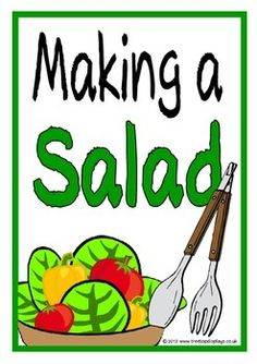 With a title page here is set of 14 colorful printables showing a range of vegetables that could be used as ingredients for a salad. Great for discussion before, during and after making salads as well as for a creative display! Visit our TpT store for more information and for other classroom display resources by clicking on the provided links.