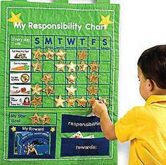 This Christmas gift has brought out quite the excitement in my kids to get their chosen responsibilities done so they can put up a star. Their charts are proudly hanging on their bedroom doors.