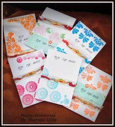 handmade rakhi cards HappyMomentzz crafting by Sharada Dilip: Rakhi - Cards for a Cause