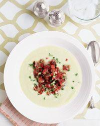 Cucumber Soup with Seared Tuna Tartare Recipe from Food & Wine