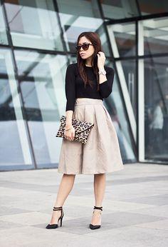 Chicwish Skirt, Forever 21 Heels