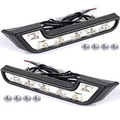XCSOURCE� 2x Car Daytime Running DRL Bright Driving Day Light Head Lamp 6 LED white MA140
