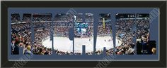 PERSONALIZE YOUR NAME with a framed small Nashville Predators stadium panoramic behind your name, single matted in team colors to 27 x 9.5 inches. $89.99   @ ArtandMore.com