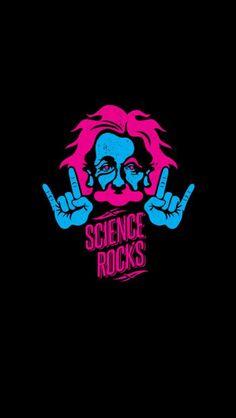 Albert Einstein Science Rocks Minimal iPhone Wallpaper - V - Science Iphone Wallpaper Modern, Nerdy Wallpaper, Math Wallpaper, Islamic Wallpaper, Latest Wallpaper, Wallpapers Android, Live Wallpapers, Ipad Background, Blog