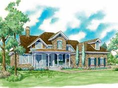 Most Up-to-Date Amenities (HWBDO06847) | French Country House Plan from BuilderHousePlans.com