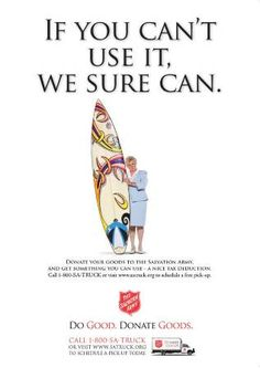 Awesome ad for The Salvation Army thrift stores!