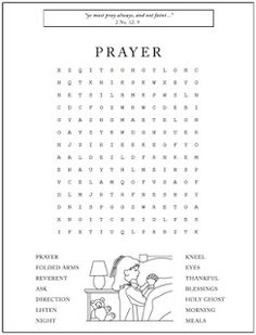 A Year of FHE: Prayer word search