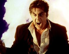 Stranger gets enraged at thoughts of losing. Al Pacino, Good Boss, Linda Blair, The Devil's Advocate, Movie Blog, Good And Evil, Movies And Tv Shows, In This Moment, Movies
