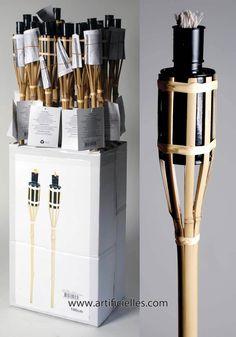 Torche Bambou H 100 cm