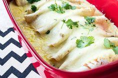 Recipe:+Skinny+Sour+Cream+Chicken+Enchiladas