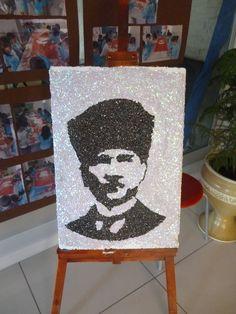pullarla atatürk portresi